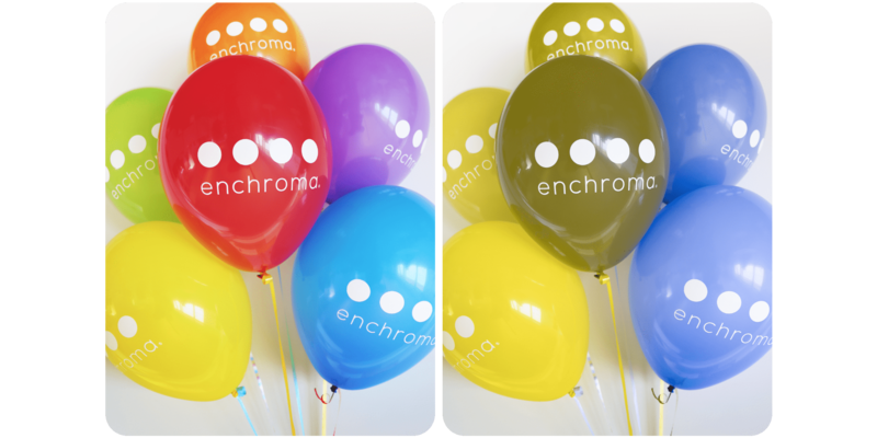 EnChroma Color Vision Test - Do these balloons look similar?