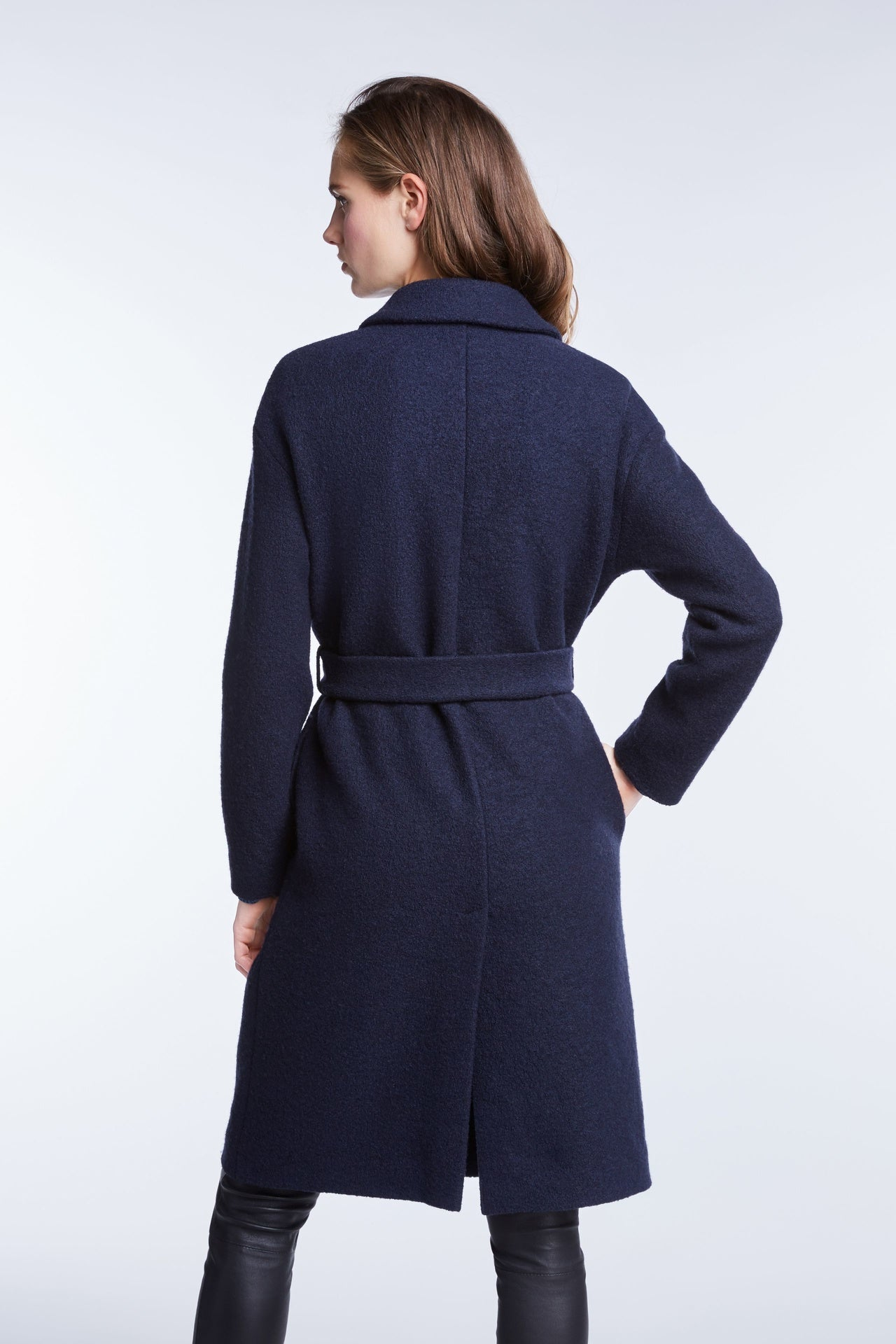 Set Navy Wool Coat