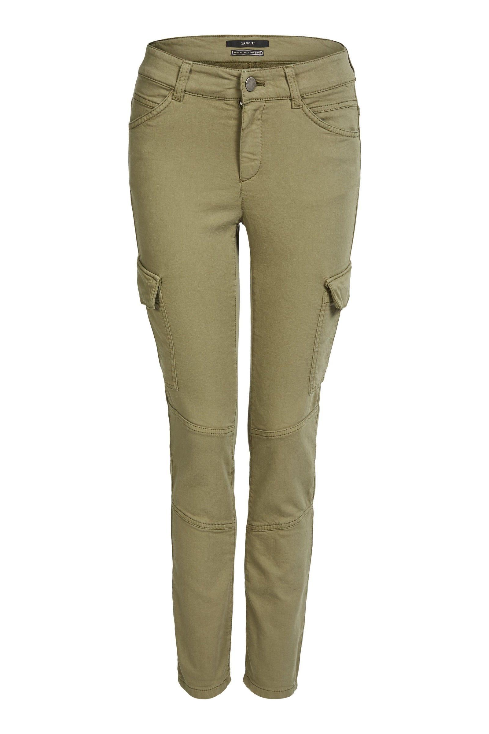 Set Slim Fit Green Cargo Trousers