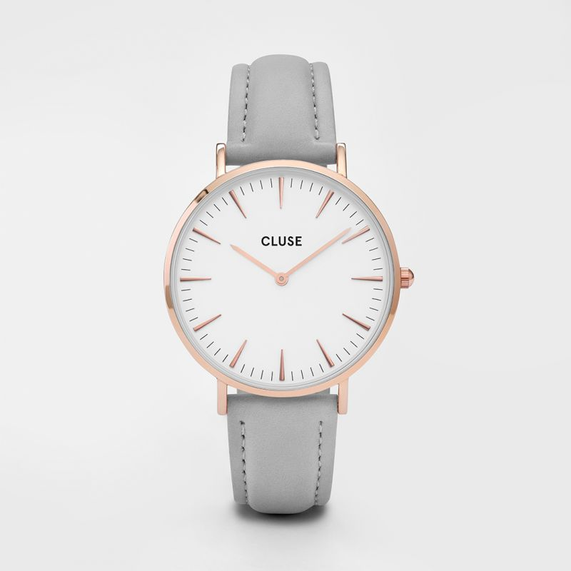 Cluse La Boheme Rose Gold Grey/White