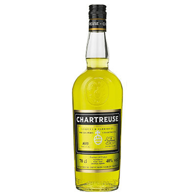 Chartreuse Jaune 37,5cl. Chartreuse Diffusion, Voiron, Frankrig