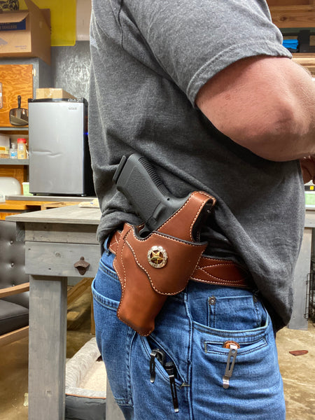 Holster OWB Belt-slide with Thumbbreak