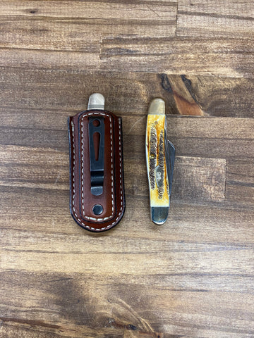 "Knife Sheath w/clip ""Case Medium Stockman"""