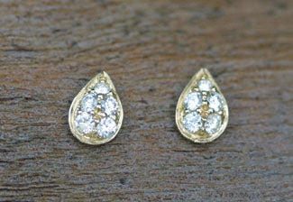 Signature Pave Teardrop Earring