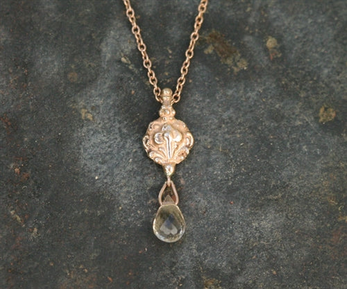 Amulet 2 Necklace with Briolette