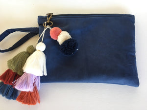 Clutch Bag - Alcadara Royal Blue