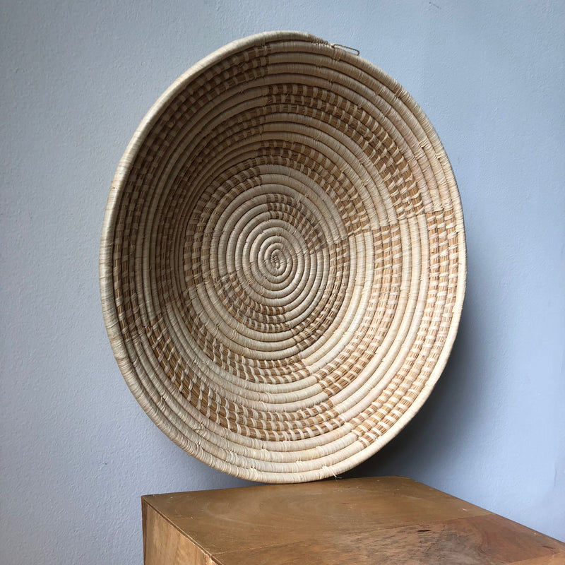 Cream & Natural Ugandan Basket - 2 Sizes Available