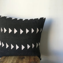Black & White Triangle Print African Mudcloth Pillow Cover - Double sided and Insert Available