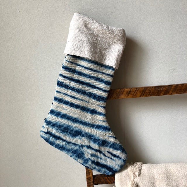 MUDCLOTH STOCKINGS- Indigo - Handmade Stockings -