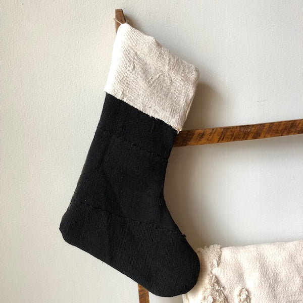 MUDCLOTH STOCKINGS- Black