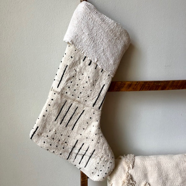 MUDCLOTH STOCKINGS- White