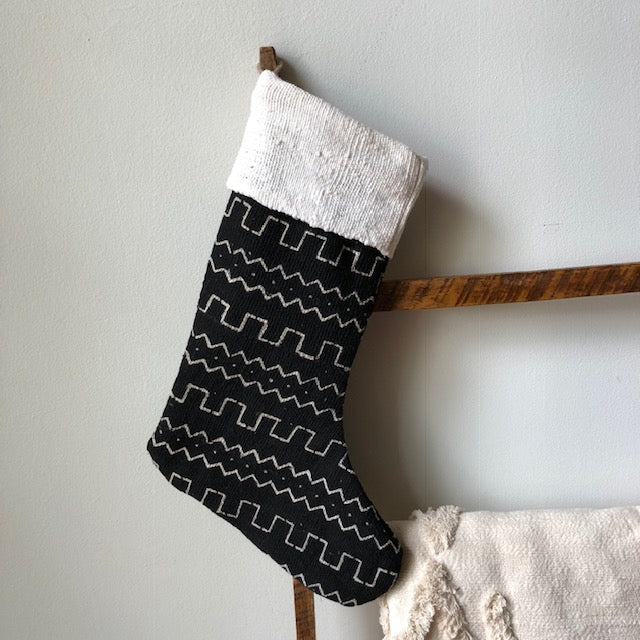 MUDCLOTH STOCKINGS- Black & White