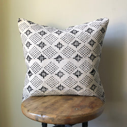 DOTS & DIAMONDS MUDCLOTH Pillow Cover