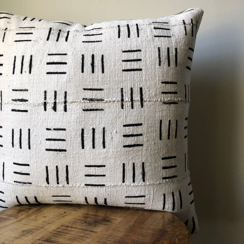MULTI LINE MUDCLOTH Pillow Cover