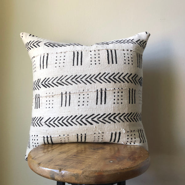 ARROW LINE MUDCLOTH Pillow Cover
