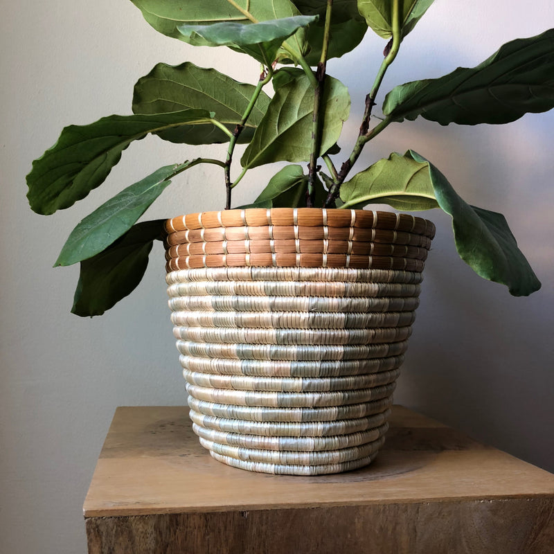 African Basket Pot