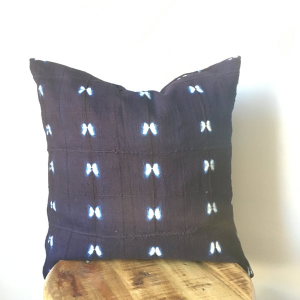 INDIGO SHIBORI MUDCLOTH Pillow Cover