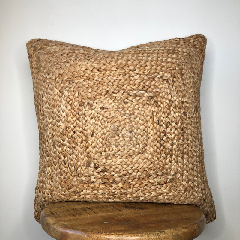 Jute Seagrass Pillow Cover 20 Inch or 16 x 26 Inch Lumbar