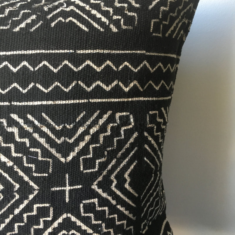 TRIBAL & TASSLED MUDCLOTH Pillow Cover