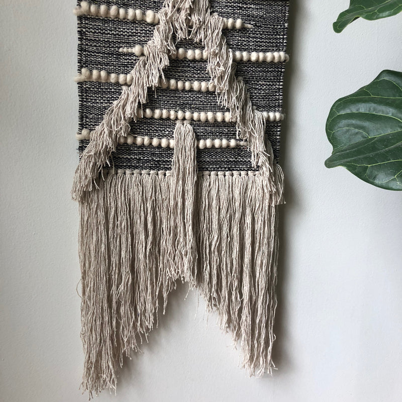 Black & Cream Wall Hanging