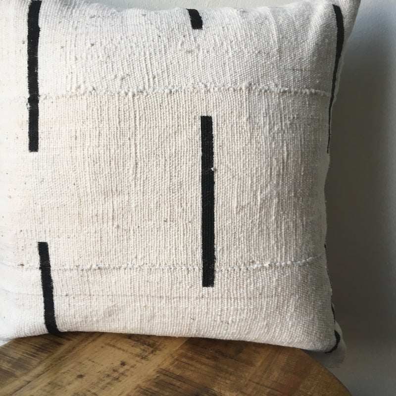 DASHED LINE MUDCLOTH PILLOW COVER