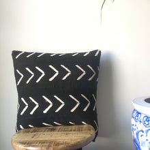 LARGE BLACK AND WHITE LARGE ARROW PRINT AFRICAN MUDCLOTH PILLOW COVER WITH INSERT AFRICA HANDMADE FABRIC COVERS MADE CUSTOM