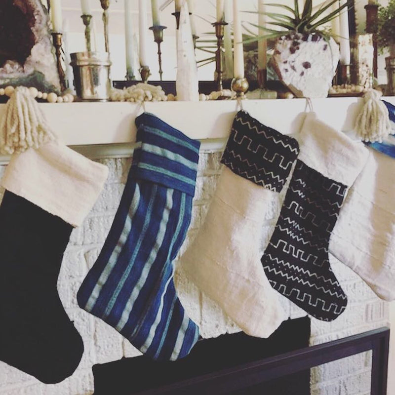 MUDCLOTH STOCKINGS- Indigo