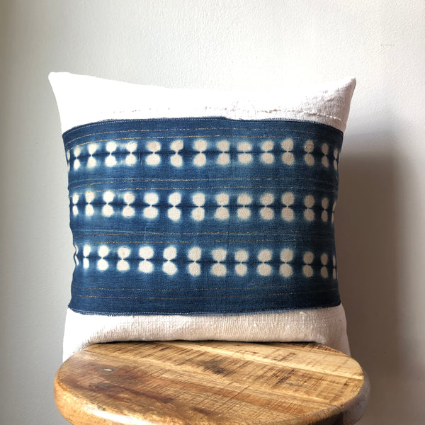 INDIGO STRIPE MUDCLOTH Pillow Cover