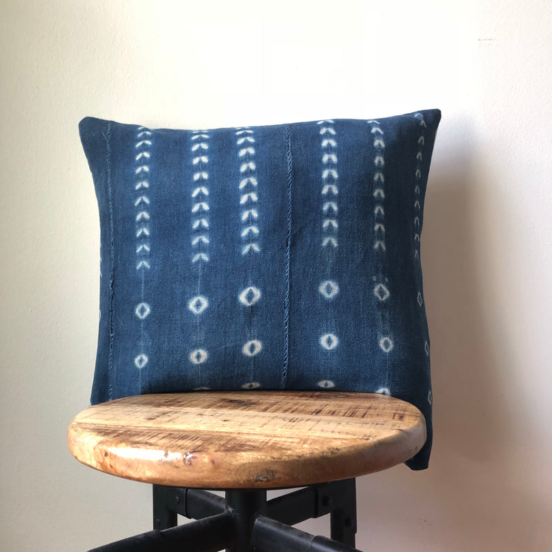 DARK SHIBORI MUDCLOTH Pillow Cover