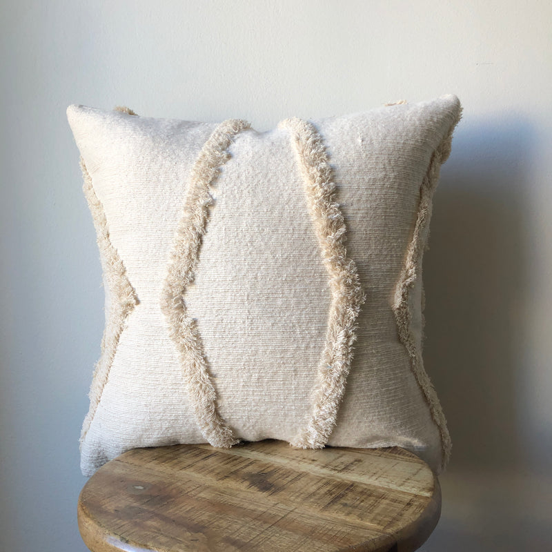 CREAM WEDDING BLANKET PILLOW