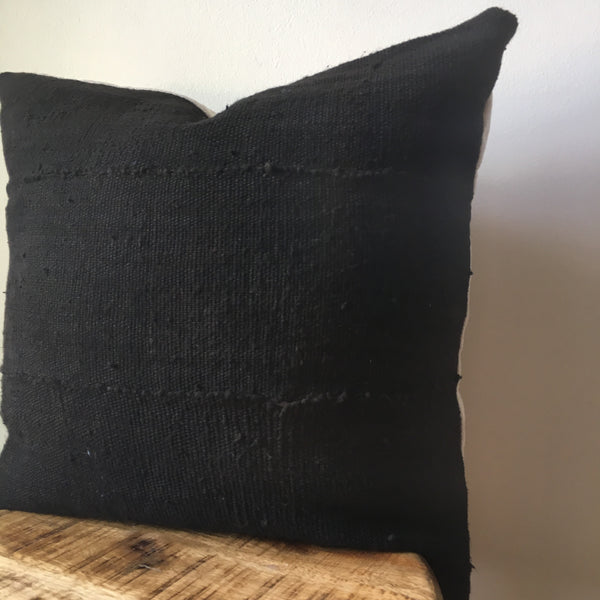 BLACK MUDCLOTH Pillow Cover