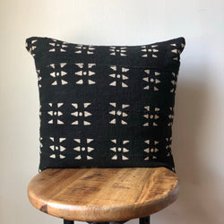 BLACK DASH MUDCLOTH Pillow Cover