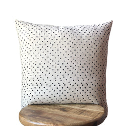 POLK A DOT HMONG CREAM & BLACK PILLOW WITH INSERT