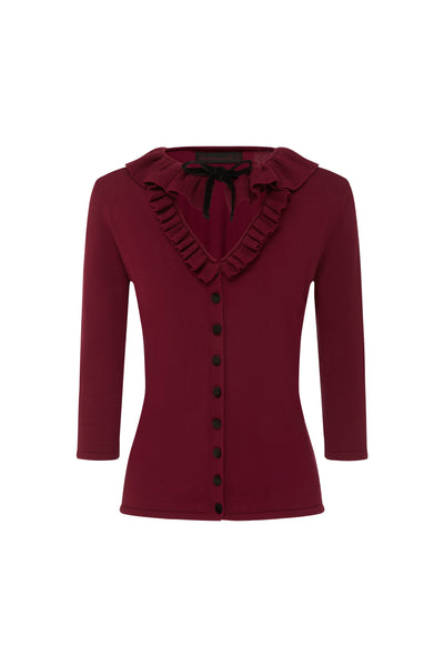The Dark Cherry Mansfield Cardigan