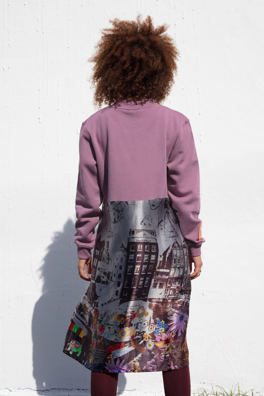 CITY MEMOIRS PULLOVER DRESS.SINGLE EMBODIMENT PIECE.