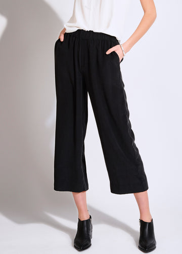 WIDE LEG SILK CROP