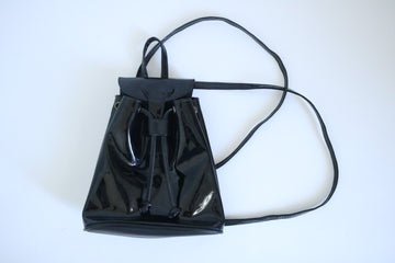 Patent Leather Mini Backpack