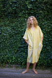 Yellow White Coccon Caftan