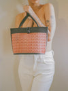 Multi Color Rattan Shoulder Bag