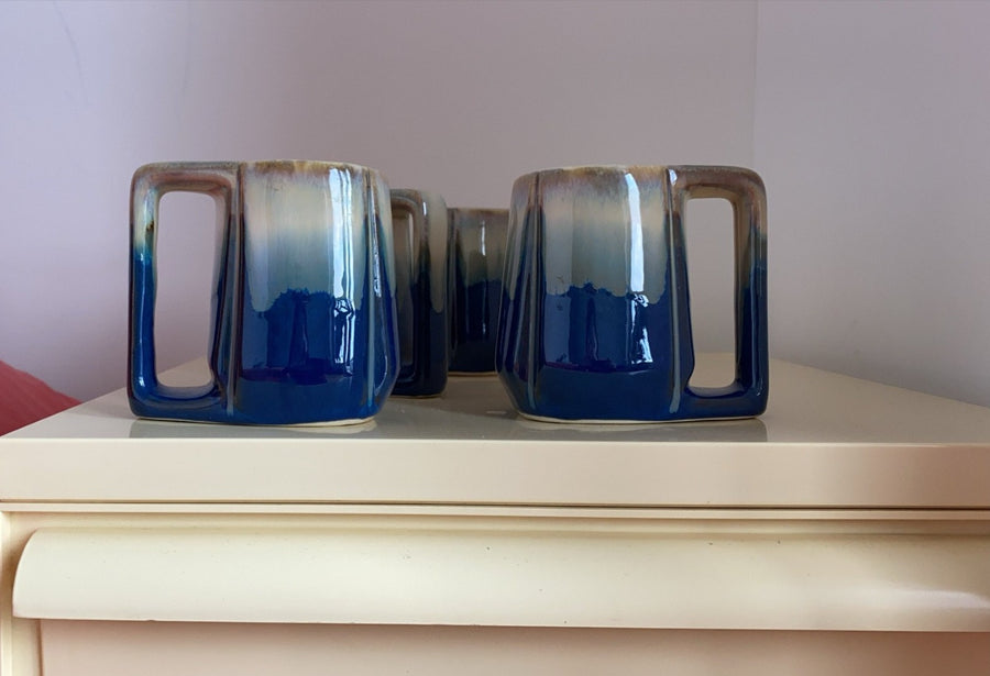 Set of Four Ceramic Mugs