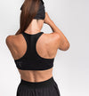 Light compression sport bra - Black