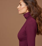 Turtleneck in ecological fabric | Burgundy