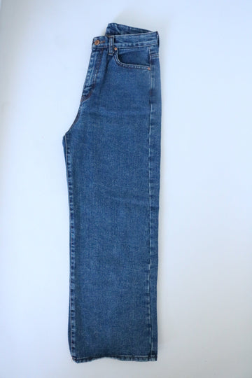 High Waisted No Brand Wide Leg Blue Jeans