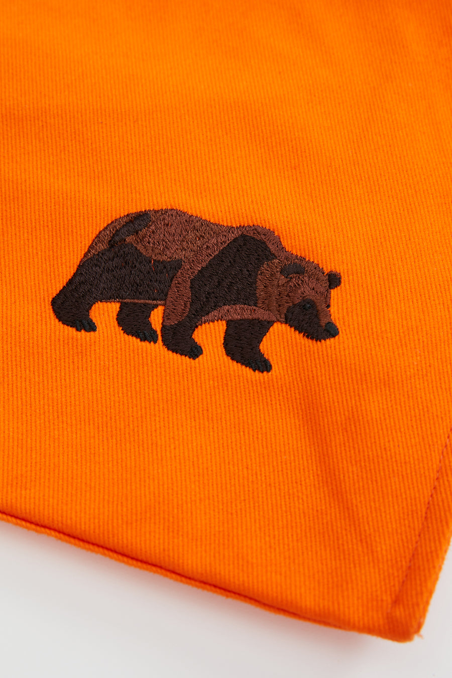 Official WWF Licensed Bear Embroidery Eco-friendly Orange Tote Bag