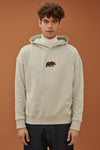 Official WWF Licensed Unisex Bear Embroidery Super Soft Light Grey Hoodie