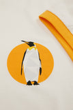 Official WWF Licensed Unisex Emperor Penguin Print White T-Shirt with Ribs