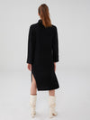 Wool Cashmere Oversized Ribbed Cashmere Maxi Dress