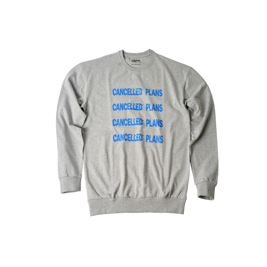 100% Recycled Cotton Sweatshirt 4x blue logo