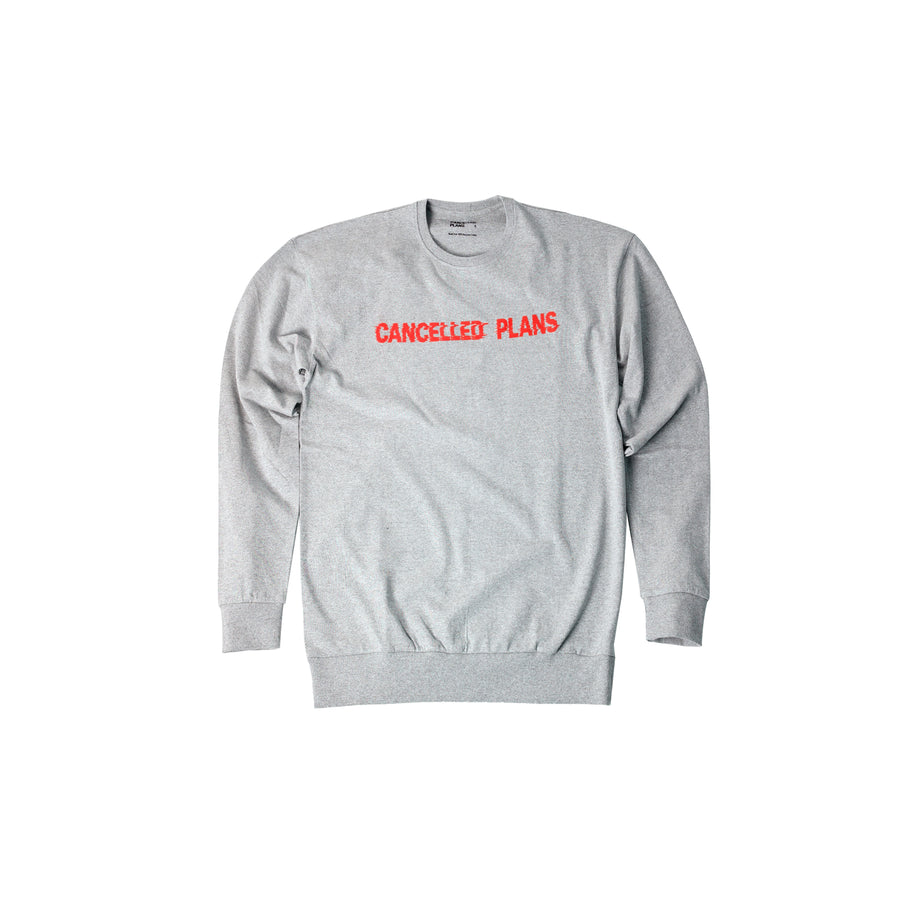 100% Recycled Cotton Sweatshirt 1x orange logo
