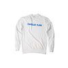 100% Recycled Cotton Sweatshirt 1x blue logo